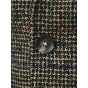 THE GIGI【ザ ジジ】シングルジャケット ANGIE L025 350 ウール ナイロン アクリル グレンチェック ブラウン レッド ブルー|cinqueunaltro|05
