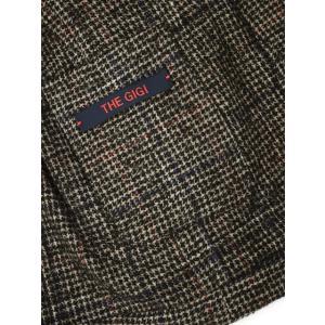 THE GIGI【ザ ジジ】シングルジャケット ANGIE L025 350 ウール ナイロン アクリル グレンチェック ブラウン レッド ブルー|cinqueunaltro|06