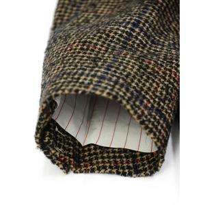 THE GIGI【ザ ジジ】シングルジャケット ANGIE L025 350 ウール ナイロン アクリル グレンチェック ブラウン レッド ブルー|cinqueunaltro|07
