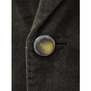 THE GIGI【ザ ジジ】ダブルジャケット ART629 L608 420 コットン ベロア ヘリンボーン ブラウン|cinqueunaltro|05