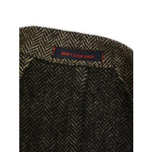 THE GIGI【ザ ジジ】シングルチェスターコート RIGEL T-L62 200 ウール ヘリンボーン ベージュ ブラック|cinqueunaltro|07