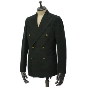 THE GIGI【ザ ジジ】ダブルジャケット ART629 L602 500 ウール ブラックウォッチ グリーン ブラック cinqueunaltro