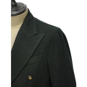 THE GIGI【ザ ジジ】ダブルジャケット ART629 L602 500 ウール ブラックウォッチ グリーン ブラック cinqueunaltro 04