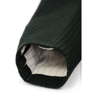 THE GIGI【ザ ジジ】ダブルジャケット ART629 L602 500 ウール ブラックウォッチ グリーン ブラック cinqueunaltro 06