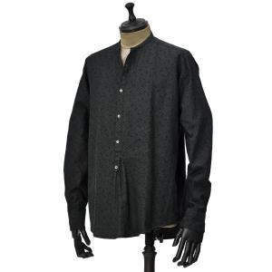 THE GIGI【ザ ジジ】プルオーバーシャツ SHEDIR 014 コットン ジオメトリック ブラック|cinqueunaltro