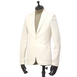 T-JACKET【ティージャケット】シングルジャケット 419-83210002 101 コットン ポリエステル ナイロン ポリウレタン ジャガード ホワイト|cinqueunaltro