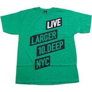 10DEEP 81TD4305 LIVE LARGER S/S TEE Money Green テンディープ ライブラージャー S/S Tシャツ マネーグリーン|cio