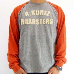 A.KURTZ ROADSTERS L/S TEE Gray/Orange エーカーツ ロードスターズ L/S Tシャツ グレー/オレンジ|cio