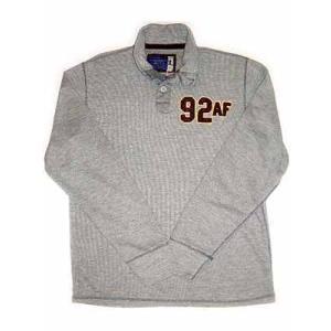 【SALE】アバクロンビーアンドフィッチ(アバクロ) L/S ポロシャツ グレー Abercrombie & Fitch L/S PoloShirt Gray|cio