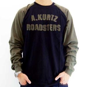 【SALE】A.KURTZ ROADSTERS L/S TEE Black/Green エーカーツ ロードスターズ L/S Tシャツ ブラック/グリーン|cio