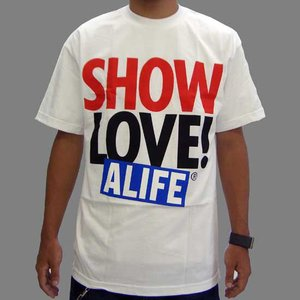【SALE】ALIFE SHOW LOVE S/S T-Shirt White エーライフ ショーラブ S/S Tシャツ ホワイト|cio