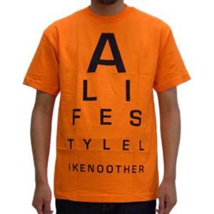【SALE】ALIFE EYE CHART S/S TEE Orange エーライフ アイ チャート S/S Tシャツ オレンジ|cio