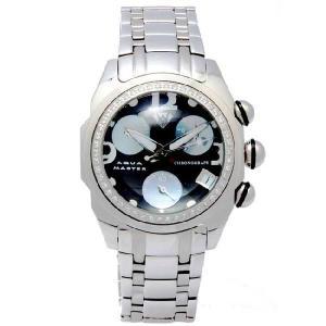 アクアマスター クロノグラフ メンズ ラウンド バブル スタイル ダイヤモンド ウォッチ AQUA MASTER CHRONOGRAPH Men's Round Bubble Style Diamond Watch|cio