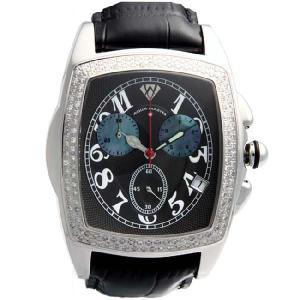 アクアマスター ジェソン クロノグラフ ダイヤモンド ウォッチ 20-1W #53 ブラック AQUA MASTER JASON CHRONOGRAPH Diamond Watch Black|cio