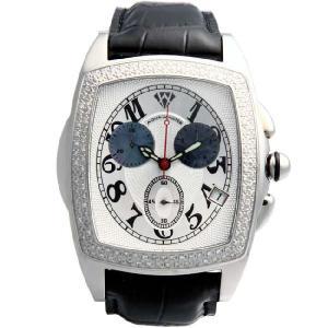 アクアマスター ジェソン クロノグラフ ダイヤモンド ウォッチ 20-3W #53 シルバー AQUA MASTER JASON CHRONOGRAPH Diamond Watch 20-3W #53 Silver|cio