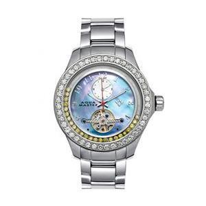 アクアマスター ビリオン ダイヤモンド ウォッチ シルバー ブルー w#99-3 AQUA MASTER Billion Diamond Watch Silver Blue w#99-3|cio