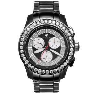 アクアマスター マスターピース クロノグラフ ダイヤモンド ウォッチ ブラック ブラック w#100-1 AQUA MASTER Masterpiece CHRONOGRAPH Diamond Watch w#100-1|cio