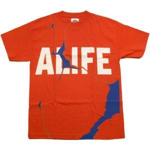 ALIFE CRACKED S/S TEE Red エーライフ クラックド S/S Tシャツ レッド|cio