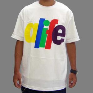 ALIFE RAINBOW S/S TEE White エーライフ レインボー S/S Tシャツ ホワイト|cio
