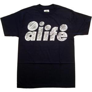 ALIFE SCRATCH S/S TEE Navy エーライフ スクラッチ S/S Tシャツ ネイビー|cio