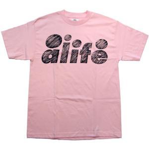 ALIFE SCRATCH S/S TEE Pink エーライフ スクラッチ S/S Tシャツ ピンク|cio