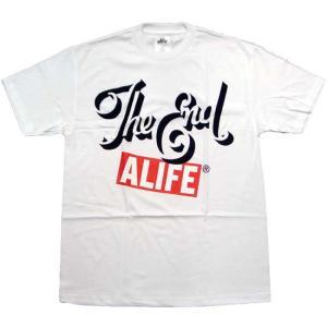 ALIFE The End S/S TEE White エーライフ ジ エンド S/S Tシャツ ホワイト|cio