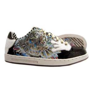 Christian Audigier Shoe's STACT Black White クリスチャンオードジェー シューズ スタクト ブラック/ホワイト|cio