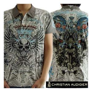 【SALE】クリスチャン オードジェー S/S ポロシャツ VIF ラインストーン グレー Christian AudigiercmRH149VIF VIF Rhinestone Gray|cio