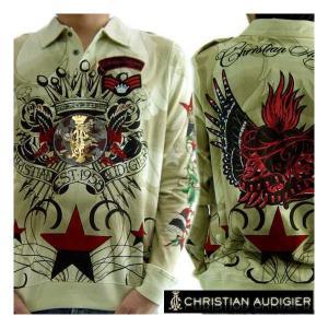 クリスチャンオードジェー L/S ポロシャツ ハートブレーカー タン Christian AudigiercmMI154HEA HEART BREAKER Tan|cio