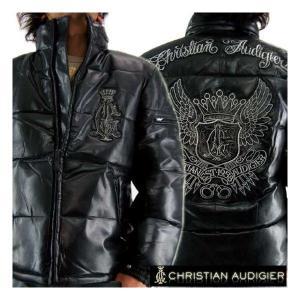 クリスチャンオードジェー レザーダウンジャケット ブラック CHRISTIAN AUDIGIER LEATHER DOWN JACKET Black|cio