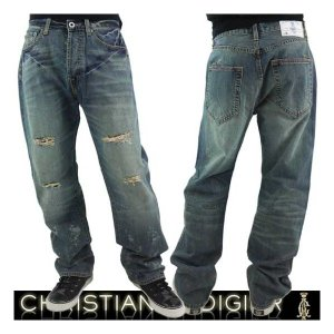 Christian Audigier DART 5-POCKET M22084LD RUSSSELL クリスチャンオードジェー ダート 5-ポケット ラッセル デニム|cio