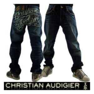 Christian Audigier M26102L32 CONNE SIGNATURE STUD VIN クリスチャンオードジェー コニー シグネチャー スタッド ビンテージ デニム|cio