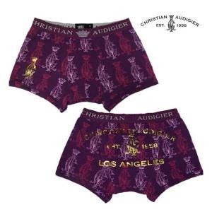 【SALE】クリスチャン オードジェー ボクサー ブリーフ パンツ パープル Christien Audigier Boxer Briefs Pants Purple|cio