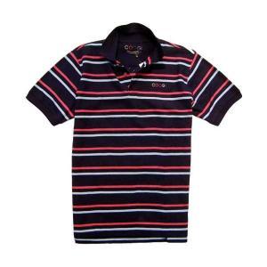 【SALE】COOGI S/S POLO NAVY/HOT PINK クージー S/S ポロシャツ ネイビー/ホットピンク|cio