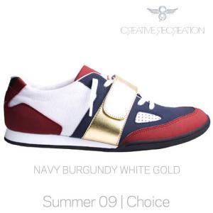 【SALE】クリエイティブレクリエーション マッシーモ チョイス ネイビー/バーガンディー/ホワイト/ゴールド MASSINO Choice Navy/Burgundy/White|cio