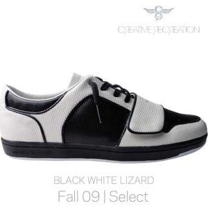 【SALE】クリエイティブレクリエーション セサリオ ローセレクト ブラック/ホワイトリザード Creative Recreation CR8 CESARIO LO Select Black/White Lizard|cio
