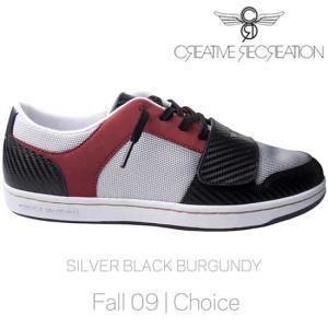 【SALE】クリエイティブレクリエーション セサリオ ロー チョイス シルバー/ブラック/バーガンディー Creative Recreation CR8 CR4Lo39 CESARIO LO Choice|cio