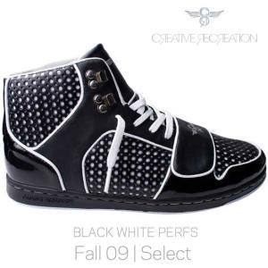 【SALE】クリエイティブ レクリエーション セサリオ セレクト ブラック/ホワイト パーフス Creatieve Recreation CR8 CESARIO Select Black/White Perfs|cio