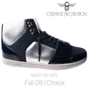 【SALE】クリエイティブレクリエーション セサリオ チョイス ネイビー/シルバー Creative Recreation CR8 CESARIO Choice Navy/Silver|cio