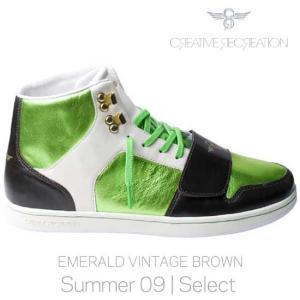 【SALE】CR8 CR429 CESARIO Select Emerald/Vintage/Brown クリエイティブレクリエーション セサリオ セレクト エメラルド/ヴィンテージ/ブラウン|cio