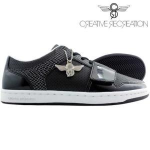 【SALE】【再入荷】クリエイティブレクリエーション セサリオ ロー チョイス ブラックパテント/スネーク Creative Recreation Cesario Lo Choice Black|cio