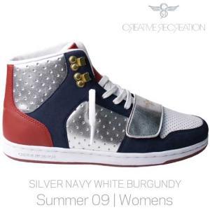 【SALE】CR8 CESARIO WOMENS Silver Navy White クリエイティブレクリエーション セサリオ ウィーメンズ シルバー/ネイビー/ホワイト/バーガンディー|cio
