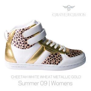 【SALE】DICOCO WOMENS White Cheetah Gold クリエイティブレクリエーション ディココ ウィーメンズ ホワイト/チーター/メタリックゴールド|cio