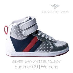 【SALE】CR8 WCR3929 DICOCO WOMENS Silver Navy White クリエイティブレクリエーション ディココ ウィーメンズ シルバー/ネイビー/ホワイト/バーガンディー|cio
