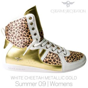 【SALE】CR8 WCR75Hi29 GALOW HI WOMENS White Cheetah Gold クリエイティブレクリエーション ガロー ハイ ウィーメンズ ホワイト/チーター/メタリックゴールド|cio