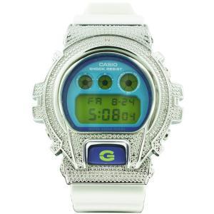 カシオ Gショック ダイヤモンド カスタム ウォッチ シルバー ブルー DW-6900 CASIO G-SHOCK Diamond Custom Watch Silver Blue DW-6900|cio
