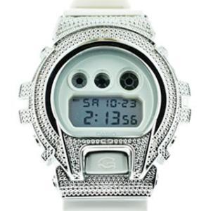カシオ Gショック ダイヤモンド カスタム ウォッチ シルバー ホワイト DW-6900 CASIO G-SHOCK Diamond Custom Watch Silver White DW-6900|cio