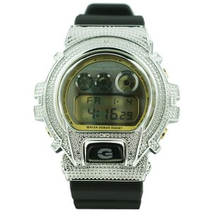 カシオ Gショック ダイヤモンド カスタム ウォッチ シルバー ブラック DW-6900 CASIO G-SHOCK Diamond Custom Watch Silver Black DW-6900|cio