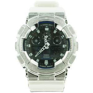 カシオ Gショック ダイヤモンド カスタム ウォッチ シルバー ブラック GA-100B CASIO G-SHOCK Diamond Custom Watch Silver Black GA-100B|cio