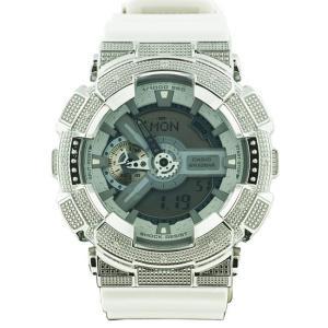 カシオ Gショック ダイヤモンド カスタム ウォッチ シルバー グレー GA-110 CASIO G-SHOCK Diamond Custom Watch Silver Gray GA-110|cio